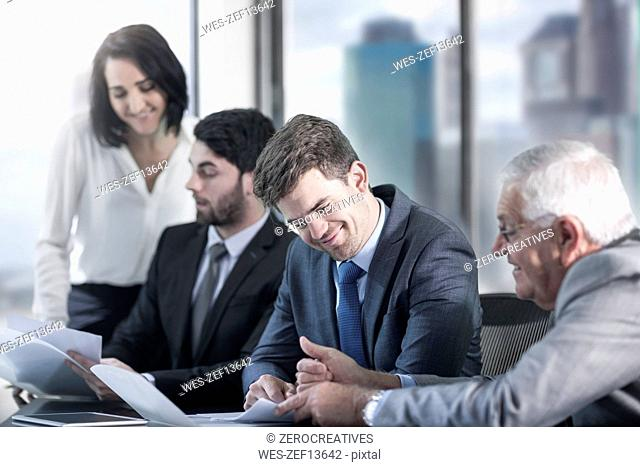 Group of businesspeople in meeting