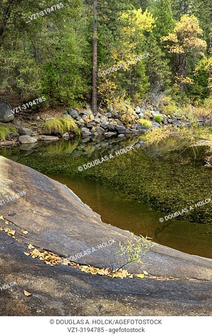 Merced River Reflections Yosemite National Park California USA