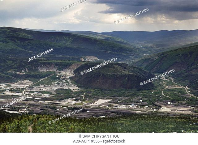Mining operations and tailings, Dawson City, Yukon Territory, Canada