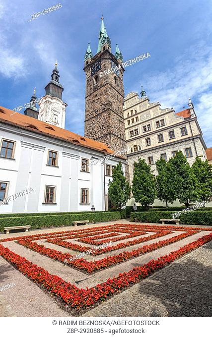 Klatovy, Czech Republic, The Black Tower and the Jesuit Church