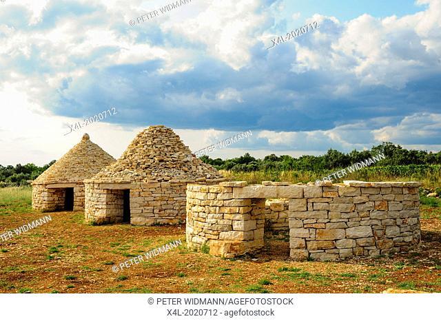 Istria, Croatia, Kazun, stone hut, Vodnjan