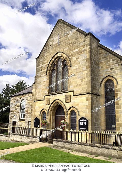 Methodist Church and Victoria Jubilee School at Danby North York Moors Yorkshire England