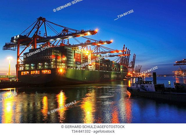 Eurogate Container Terminal, Port of Hamburg, Germany