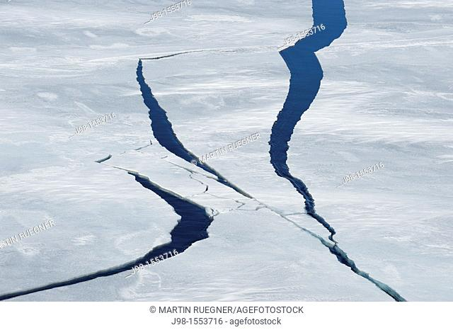 Cracks in Pack ice  Weddell Sea, Antarctic Peninsula, Antarctica