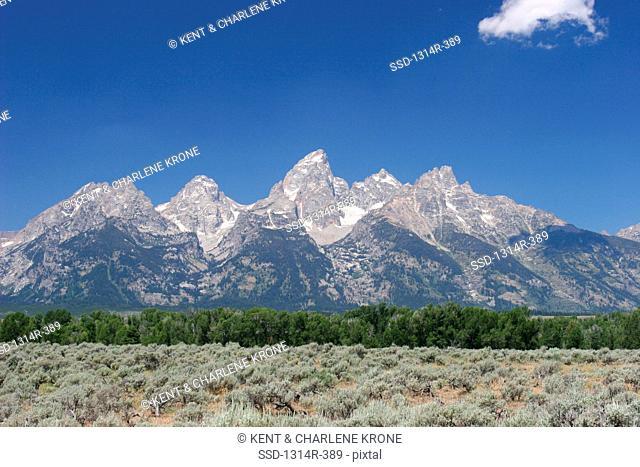 USA, Wyoming, Jackson Hole, Tetons in Teton National Park