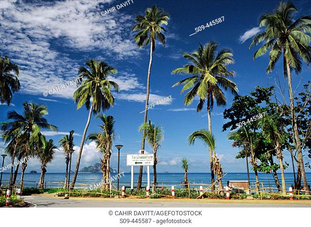 Seafront and beach at the resort of Ao Nang, Krabi, Thailand