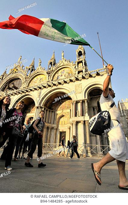 St Mark's Basilica, Piazza San Marco, Venice. Veneto, Italy