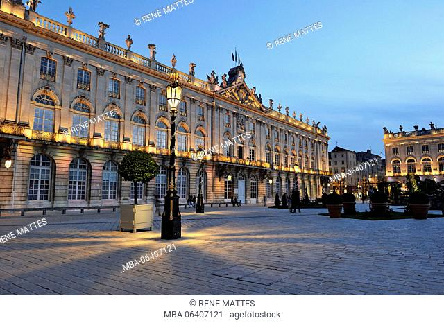 France, Meurthe et Moselle, Nancy, Place Stanislas (former Place Royale) built by Stanislas Leszczynski in the 18th century