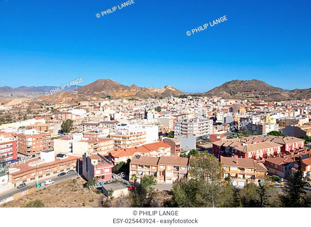 View over the town Mazarron, Region Murcia, Spain