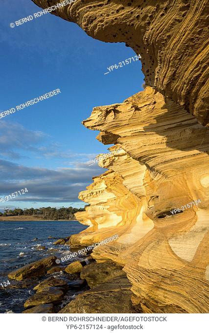 Painted Cliffs, Maria Island National Park, Tasmania, Australia