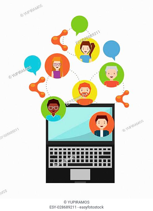 people sharing design, vector illustration eps10 graphic