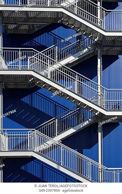 Industrial metallic staircase