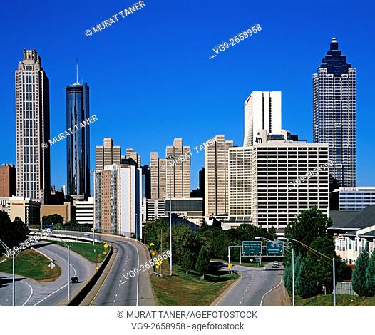 Skyline view of Atlanta, Georgia