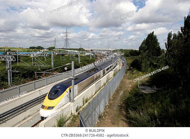 Eurostar line, Stratford, London, UK