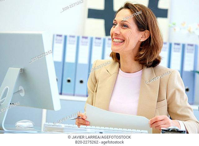 Executive woman in office