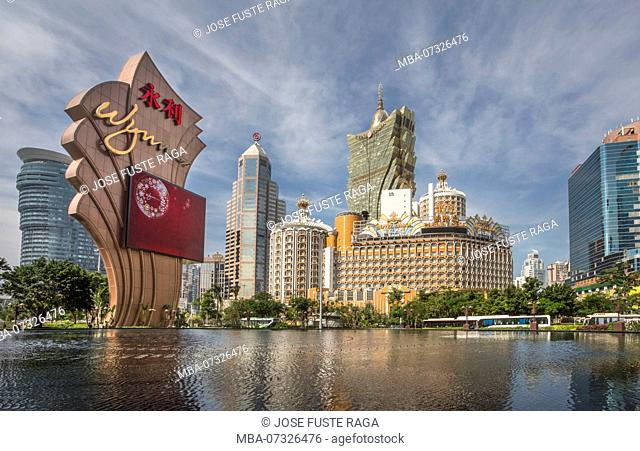 China, Macao City, Cathedral Parish District Skyline