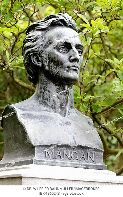 James Clarence Mangan, 1803 - 1849, Irish poet, memorial, St. Stephan's Green, Dublin, Republic of Ireland, Europe, PublicGround