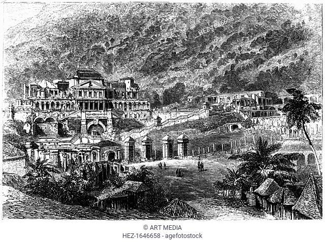Palace of Sans Souci, Milot, Haiti, 1873. Built by freed slaves between 1810 and 1813, the Palace of Sans Souci was the residence of King Henri I (Henri...