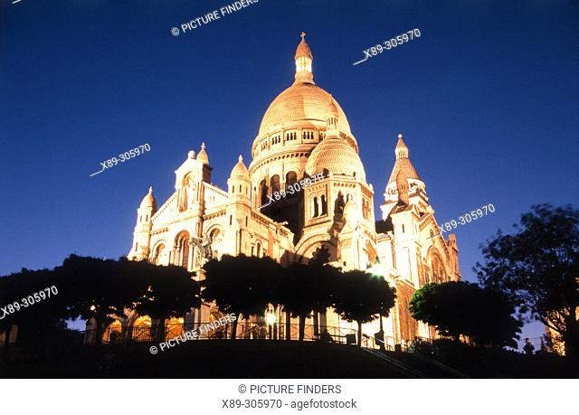 Sacre Coeur basilica. Paris. France
