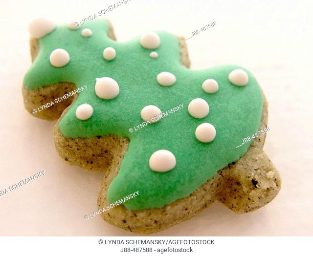 Christmas tree shaped cookie