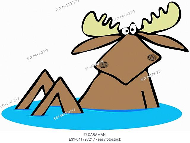 Illustration bull moose Stock Photos and Images | age fotostock