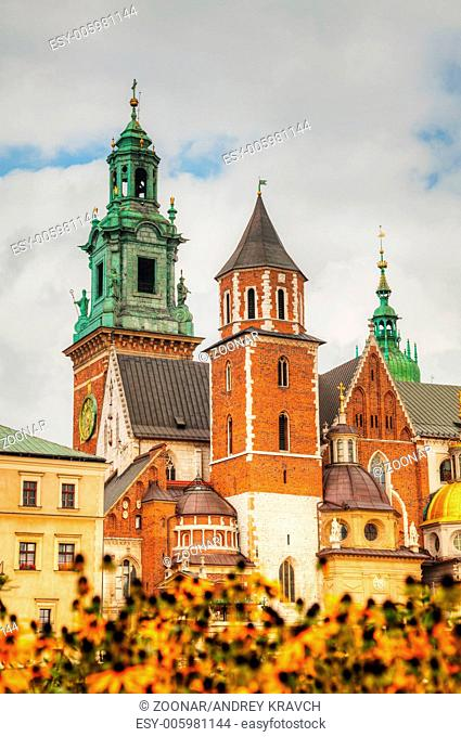 Wawel Cathedral at Wawel Hill in Krakow, Poland