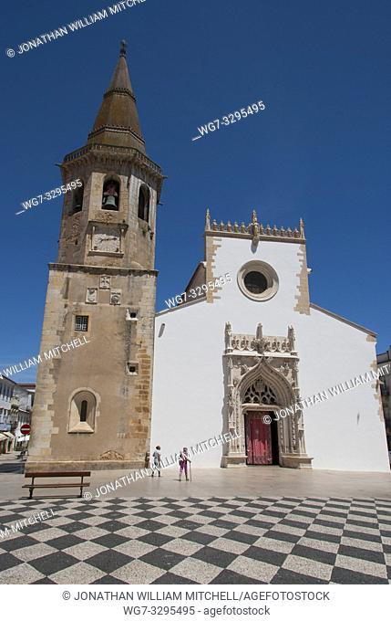 PORTUGAL Tomar -- 2015 -- The exterior of the Igreja de Sao Joao Baptista ( the Church of St John the Baptist ) near the Convento de Cristo - the one-time...