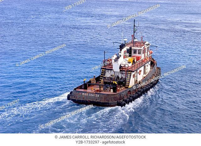 Cozumel Mexico cruise harbor tug