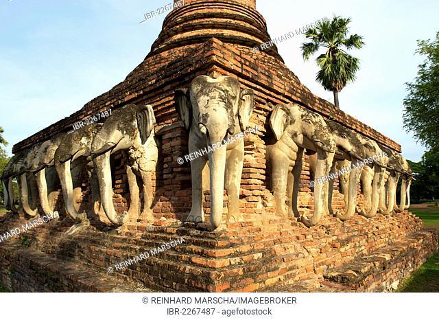 Wat Sorasak, Sukhothai Historical Park, Sukhothai, Thailand, Asia
