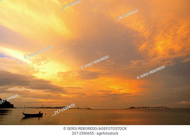 Sunrise at Kuah beach, Langkawi lsland, Malaysia