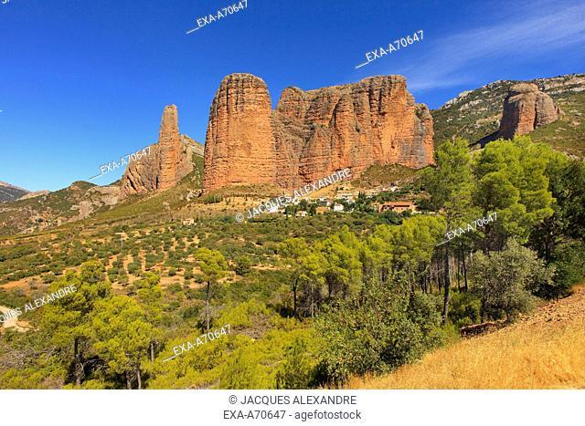 Los Mallos de Riglos, Aragon, Spain