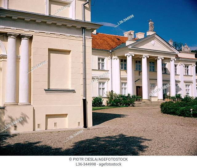 Classical palace from the XIXth century. Antonin. Central Poland