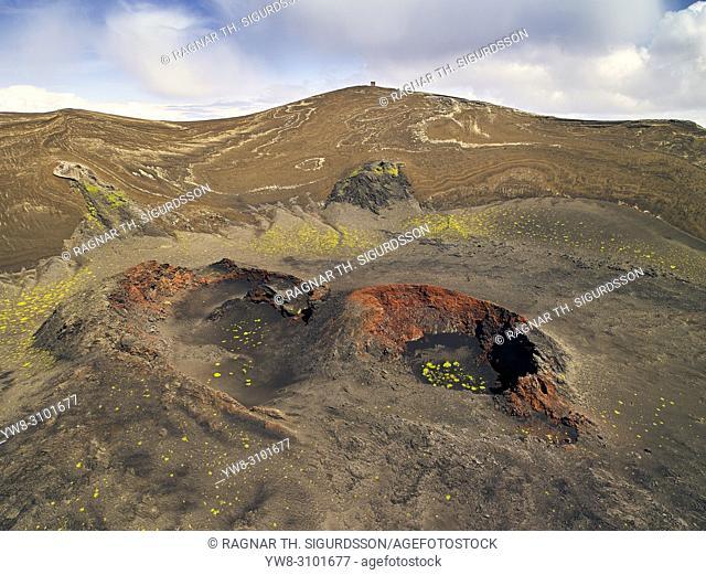 Craters, Surtsey Island, Westman Islands, Iceland