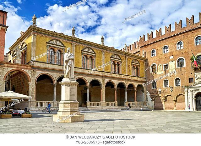Piazza dei Signori, Verona old town, Veneto region, Italy