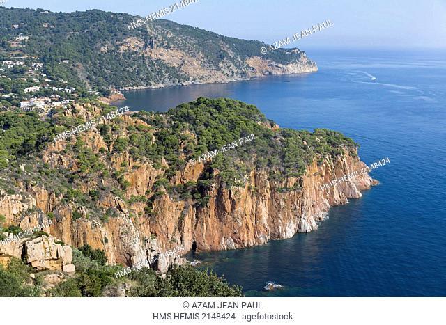 Spain, Catalonia, Girona province, Costa Brava, the coast near Begur