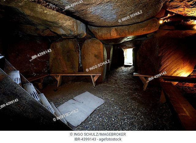 Megalithic grave Deenhoog, Denghoog, Kampen, Sylt, North Frisian Islands, North Frisia, Schleswig-Holstein, Germany