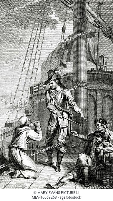 ROBERT BLAKE Parliamentary naval commander                   Incident at Malaga - None but an Englishman shall chastise an Englishman !
