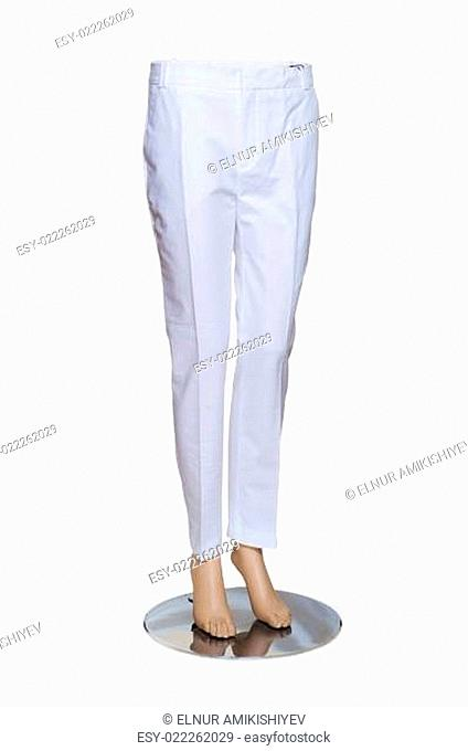 Woman trousers isolated on the white