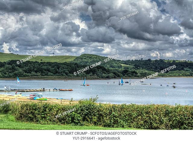 HDR images of boating activity on Carsington Water in Derbyshire