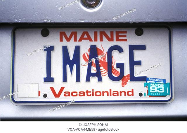 Vanity License Plate - Maine
