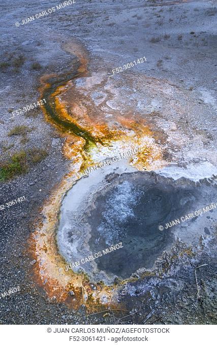 Hot Spring, Old Fatithful Area, Yellowstone National Park, Unesco World Heritage Site, Wyoming, Usa, America