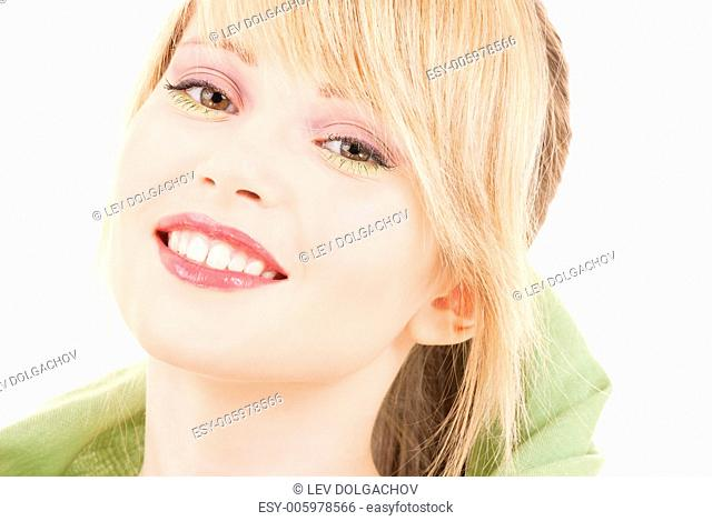 picture of teenage girl in green kerchief