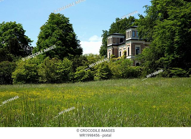 Affluence,Architecture,Bavaria,Bernried,Bernried At Lake Starnberg,Building,Cloud,Day,Daytime,Edifice,Europe,Exterior,Field,Forest,Germany,Grass,Home,Horizontal