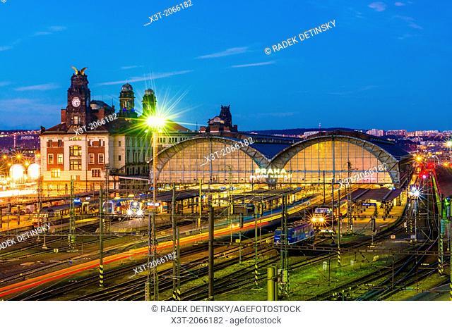 Prague main railway station (Wilsonovo nadrazi), Prague, Czech Republic