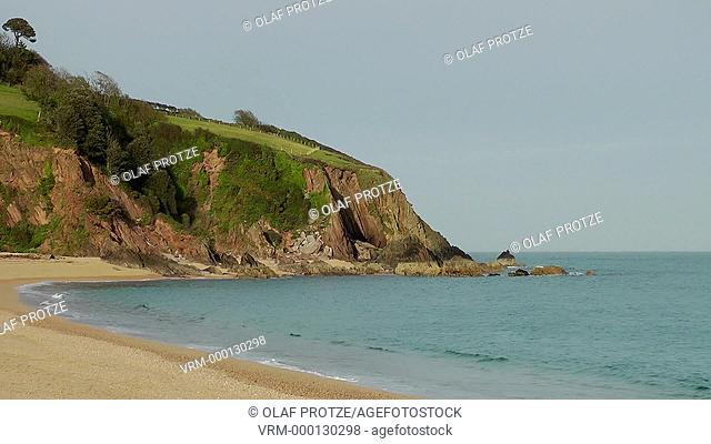 View over the Blackpool Sands Beach near Dartmouth, Devon, England
