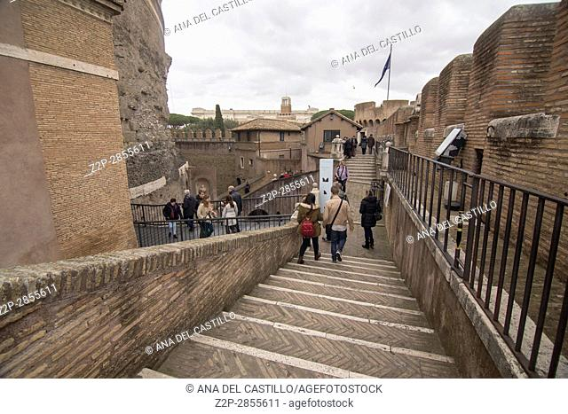 Castle Sant' Angelo in Rome, on February 5, 2017 in Italy