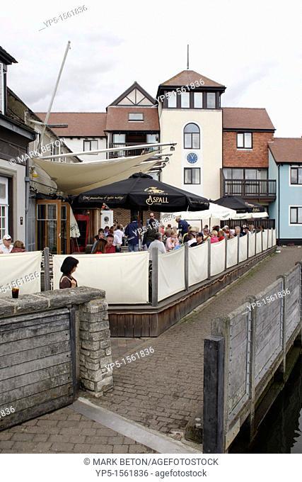 Ship Inn pub at Lymington harbour Hampshire