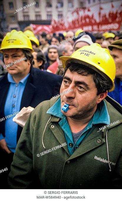 metalworker italsider demonstration, 90's
