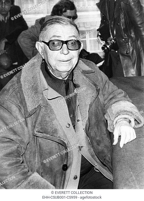 Jean Paul Sartre at a press conference in Paris, on Dec. 10, 1974. Sartre was the first Nobel laureate to voluntarily decline the prize in 1964