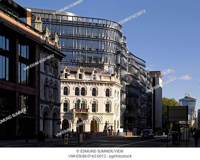 60 London at Holborn Viaduct, London, United Kingdom. Architect: Kohn Pedersen Fox Associates (KPF), 2014. Overall exterior view